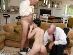 Daddy pounding She even gets ass fucked