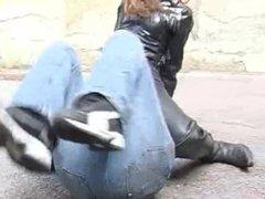biker boots woman