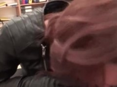 leather woman blowjob doctor