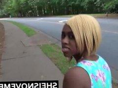 Ebony Girl Sexy Teen Amateur POV Blowjob Fuck French Stranger In Public