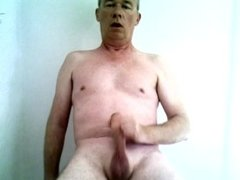 Richard Crowe naked, shaved and masturbating to climax