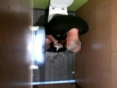spy and caught wanking in toilet