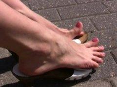 Feet Play Candid in Public 1