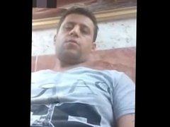 Arab man jerk off on cam