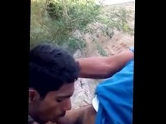 Sexy Desi Moustache Man Blowjob