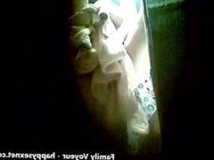 Hidden cam caught my grandma totally nude in bathroom