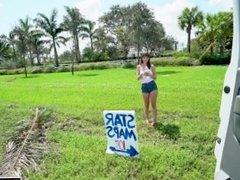 BANGBROS - Star Maps Dealer Shae Celestine Gets Slammed on Bang Bus