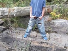 Edging session on the banks of the river in my dirty jeans #4