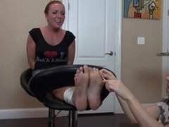 Dre Hazel Bound Feet Tickling