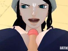 Waifu Hentai #014 - Nico Robin Titfuck