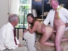 Teen girl old man first time Ivy impresses