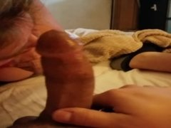 thick girl sucking my cock
