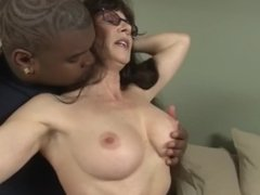 Brunette Milf Fucked by BBC and Gets Face Full of CUM