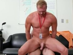 Male straight gay porn stars first time First day at work