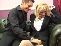 BUSTY BIG TIT BLONDE STACY DUCK AND FUCKS HARD COCK