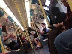 Daring Public Upskirt Flashing on a Train in London (iVoyeur Trailer)