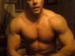 Canadian bodybuilder cam jerk cum