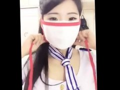 Mask Fetish with Chinese girl on webcam 03