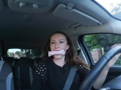 Sophia Smith Bondage Gag Driving