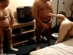French drunk wife slut blowjob and gangbang