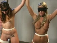 Girls Bound and Pleasured Together by the Home Owner