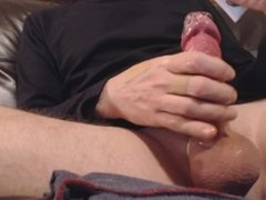 My solo 76 (Lubed wank and big ejaculation on my couch)
