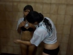 Belly Punch Fight - Hot Girls in Shower