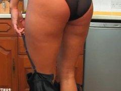 Dannii showing of her HOT PANTY ASS in sheer black panties
