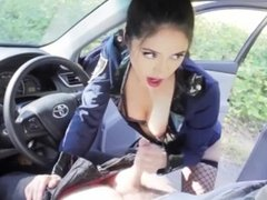 Robin Mae dirty cop blowjob