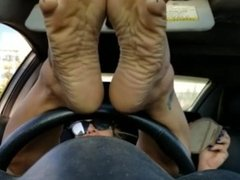 Sexy sole feet car 2