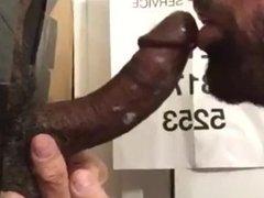 Black Curved-Up Cock Philadelphia Glory Hole