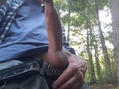 Edging session on the banks of the river in my dirty jeans #11