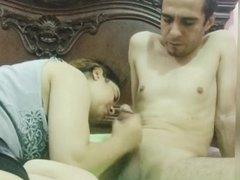 Israeli couple throat fuck