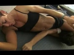 Katie beatdown and mixed wrestling