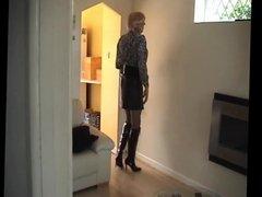 Sexy British Tranny Prostitute modelling slutty outfits