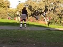 Knee Socks Crutching legbrace.mp4