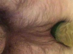 Cucumber in ass 1