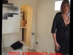 Sexy Mature British Tranny shows off more outfits 2