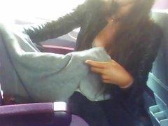 Perfect downblouse at bus