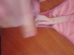 Cumming on my gf used dirty thong
