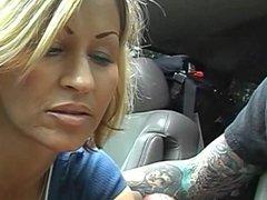 Broken Down Car Blowjob