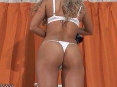 Japanese babes change into bikini, taken by hidden cams.
