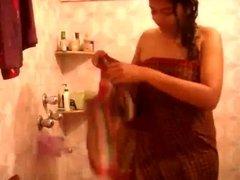 cute desi selfie in shower