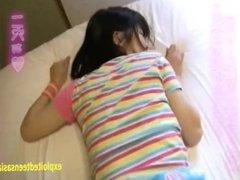 Kotooki KarinAoi Tajima Petite Teen Exploring Sex In Her Debut Wearing Pink