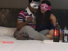 Indian Couple Reenu & Sachin Drinking Before Sex