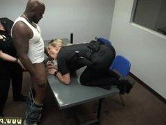 Brunette in police uniform Milf Cops