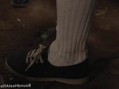 Slaves Homecoming: Bound Beauty Groped And Humiliated