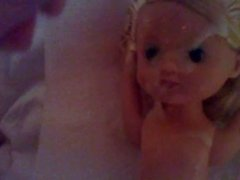 Blonde doll facial