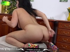 Simplyanal - Russian Tanika gets a good hard anal fucking