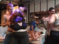Guy fucks chubby party girl in bbw bar